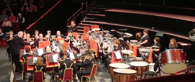 Tongwynlais Band on stage