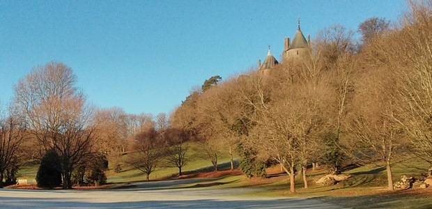 Castell Coch from the golf course