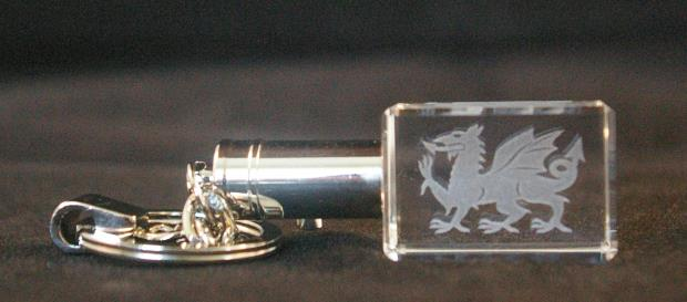 The 3D Crystal Company keyring