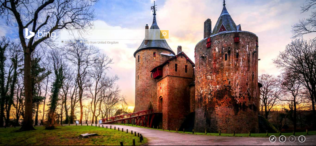 Castell Coch on Bing.com
