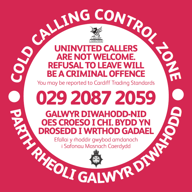 Cold Calling Control Zone sticker
