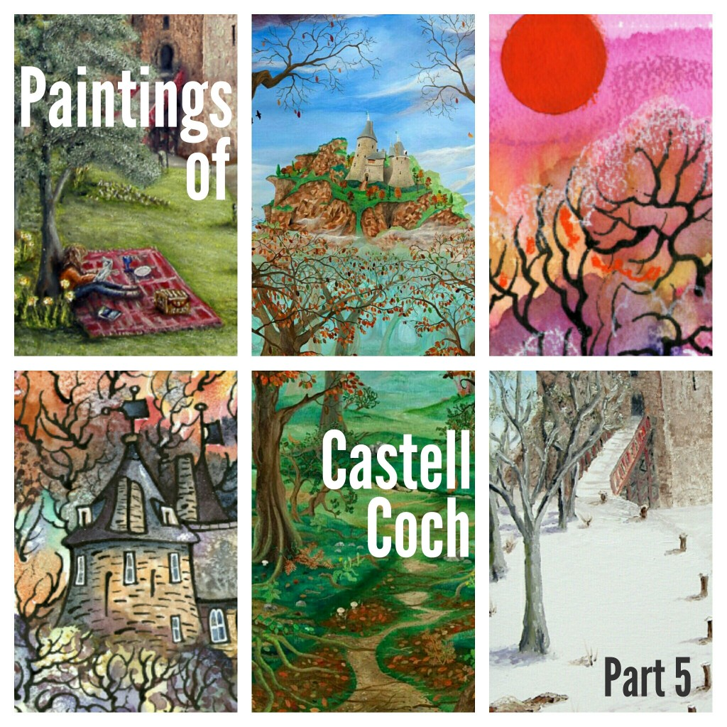 Paintings of Castell Coch part 5