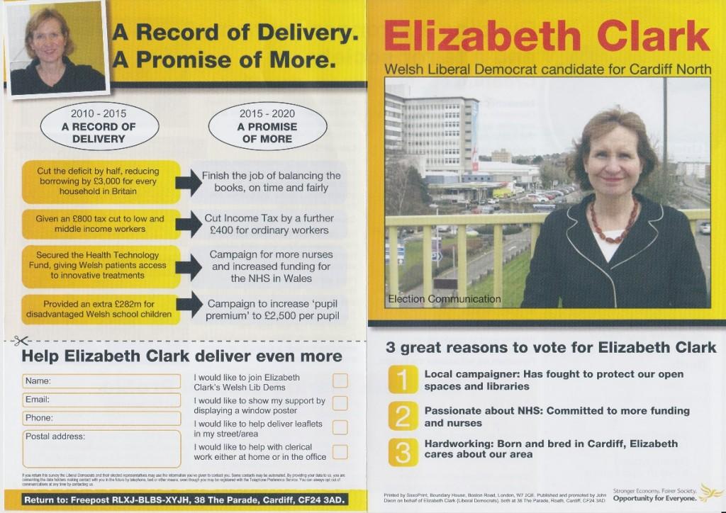 Elizabeth Clark election leaflet