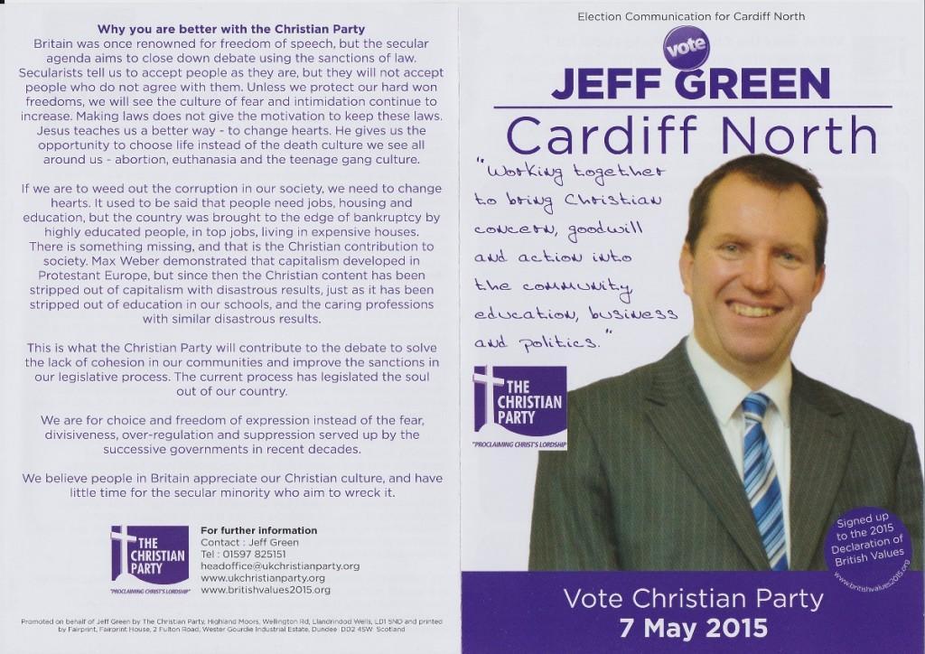 Jeff Green election leaflet