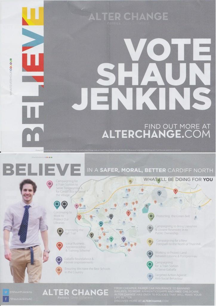 Shaun Jenkins election leaflet
