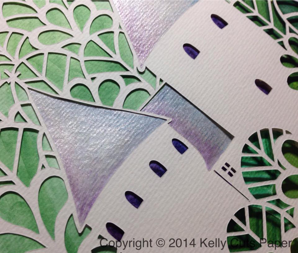 Papercut close up