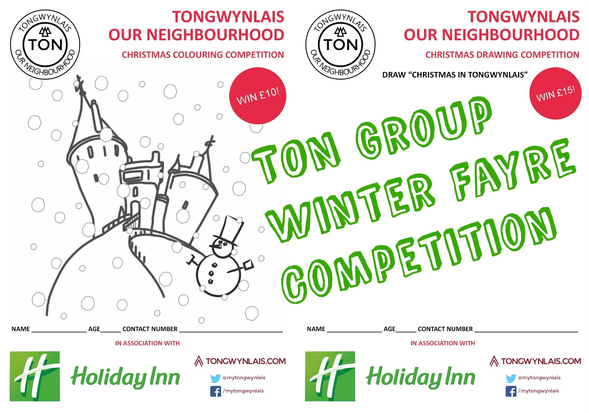 Winter Fayre competition header