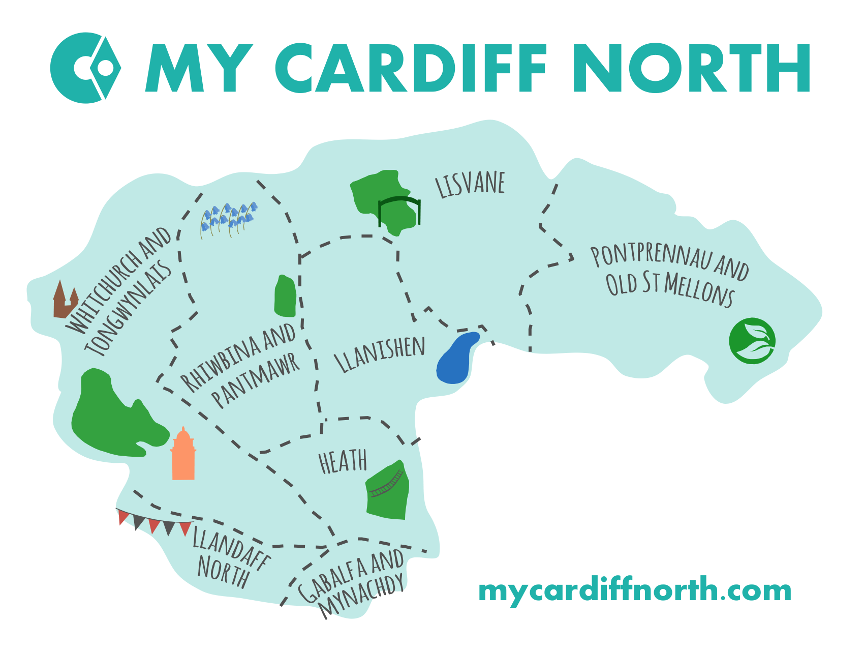 Map of Cardiff North