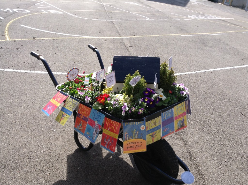 Tongwynlais Primary RHS wheelbarrow entry