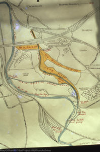 Map of Whitchurch Canal Reserve in early 1980s