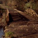 Ancient cast iron bridge Whitchurch. Feeder left canal. 15/03/72