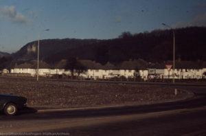 Birchwood on Tongwynlais Ors ridge, Castell Coch & village, Feb 72