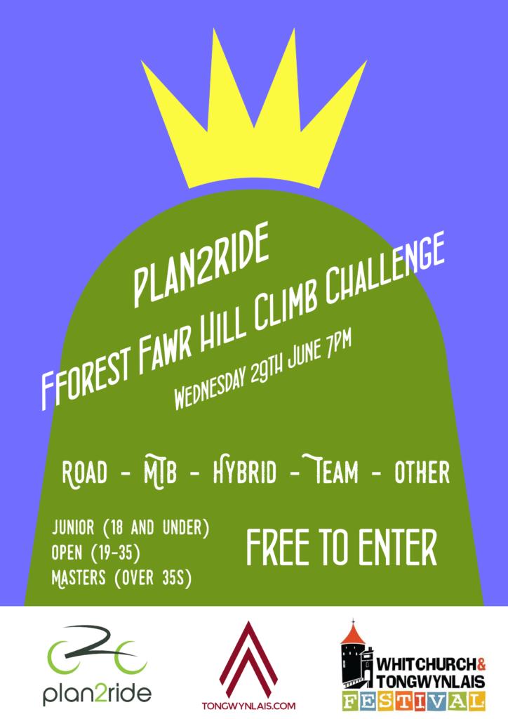 Fforest Fawr hill climb challenge poster
