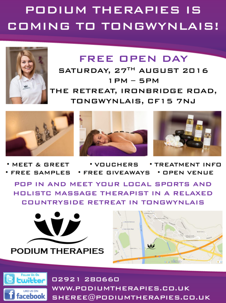 Podium Therapies open day poster