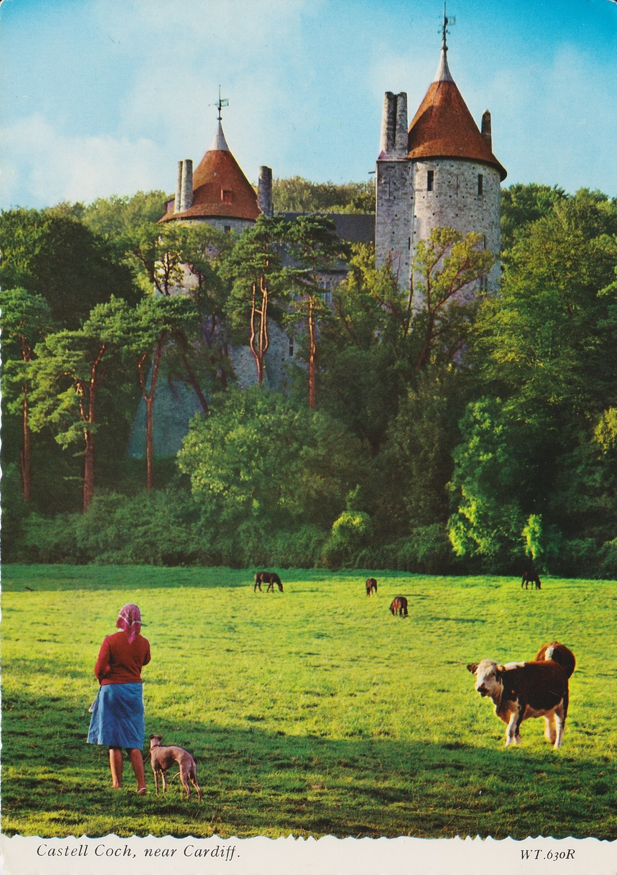 Old postcard featuring Castell Coch