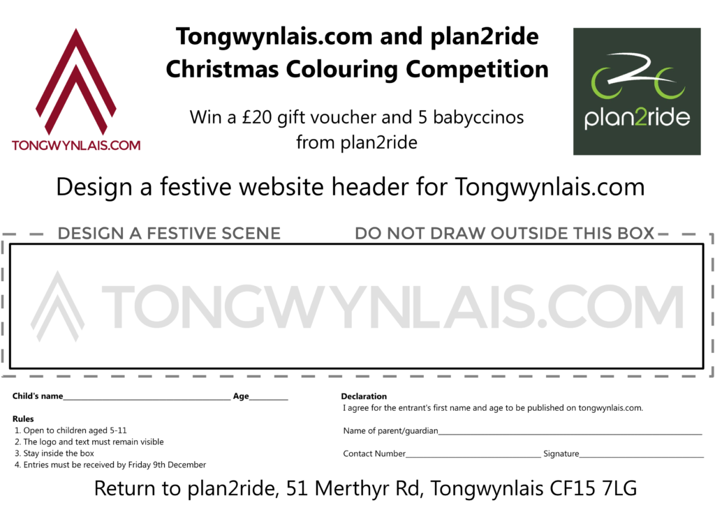Christmas Colouring Competition entry form