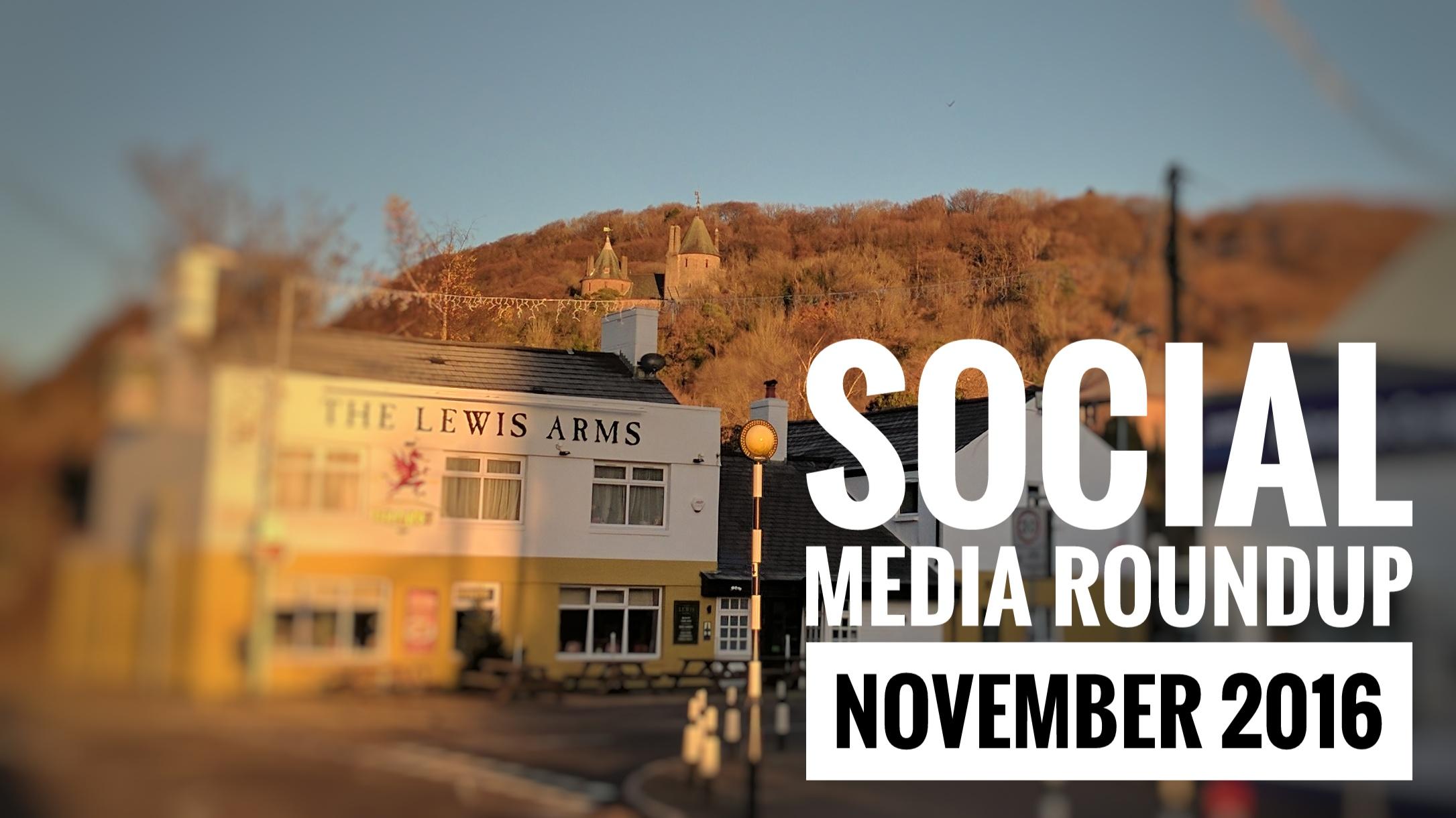 Social Media Roundup November 2016 header