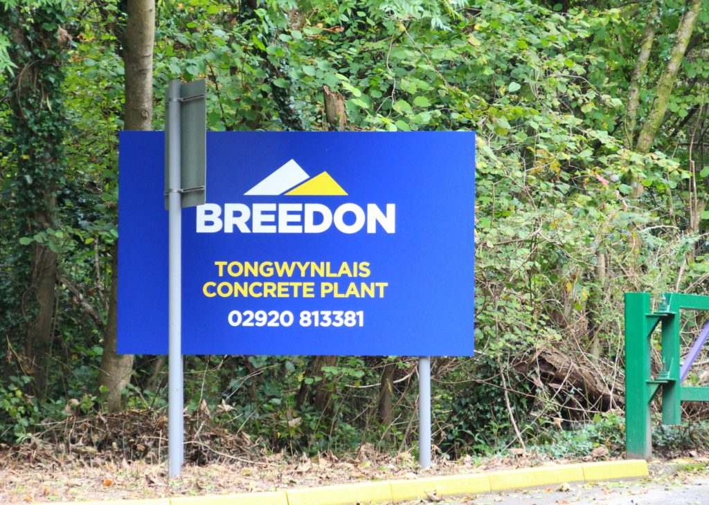 Breedon Group plc Tongwynlais sign