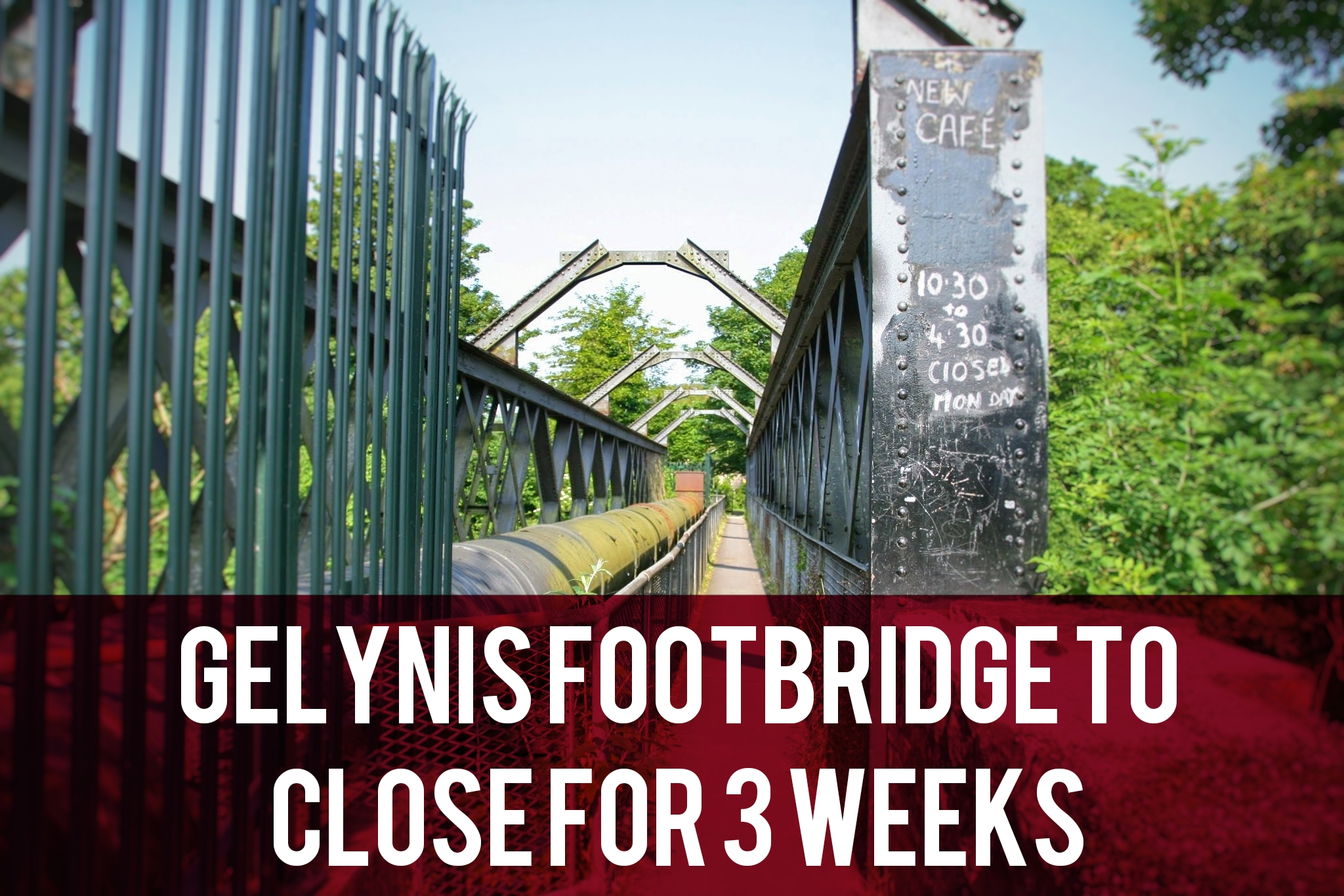 Gelynis footbridge closure header