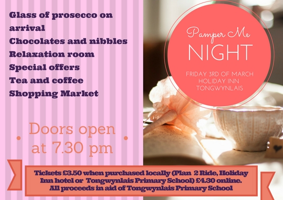 Pamper me night poster