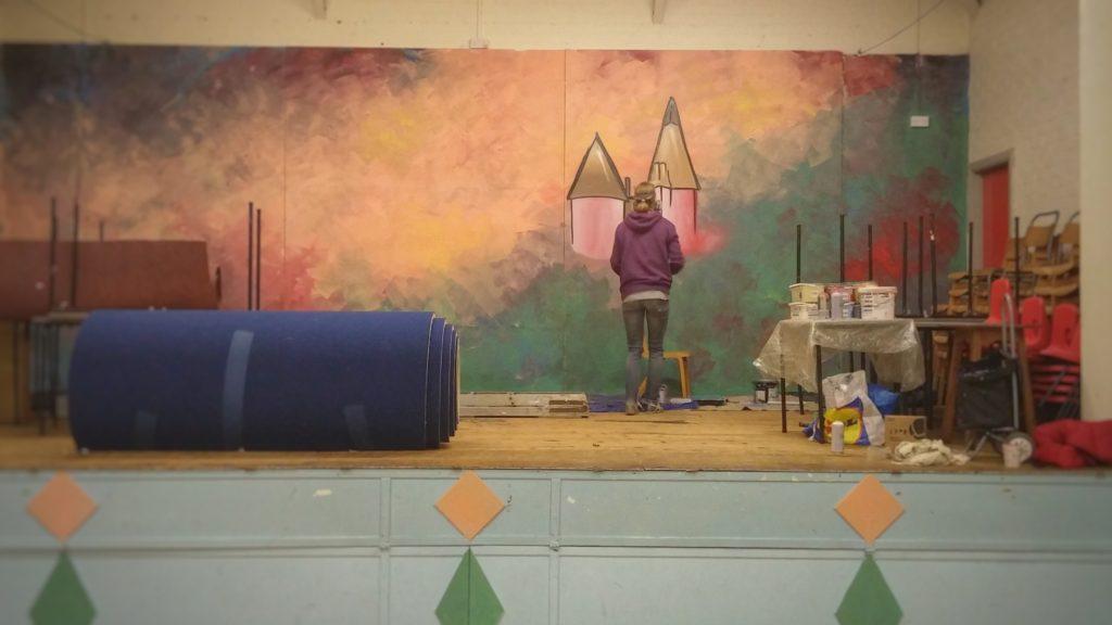Amelia Thomas in the village hall