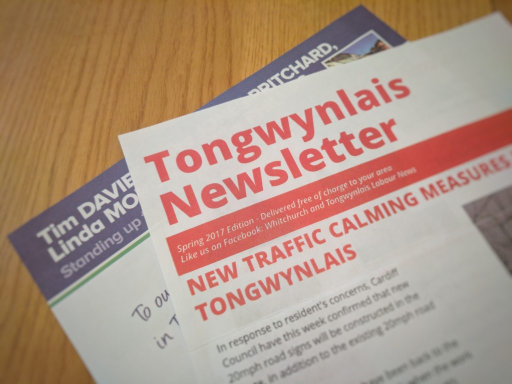 Local election leaflets