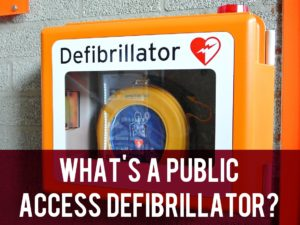 What's a public access defibrillator header