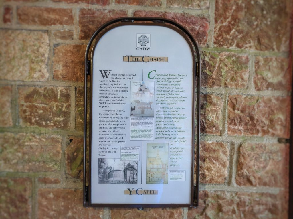 Information board at Castell Coch