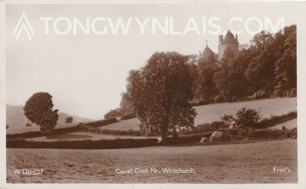 Front of Castell Coch postcard