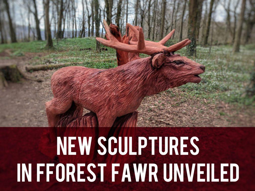 New sculptures in Fforest Fawr unveiled header