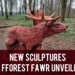 New sculptures in Fforest Fawr unveiled header