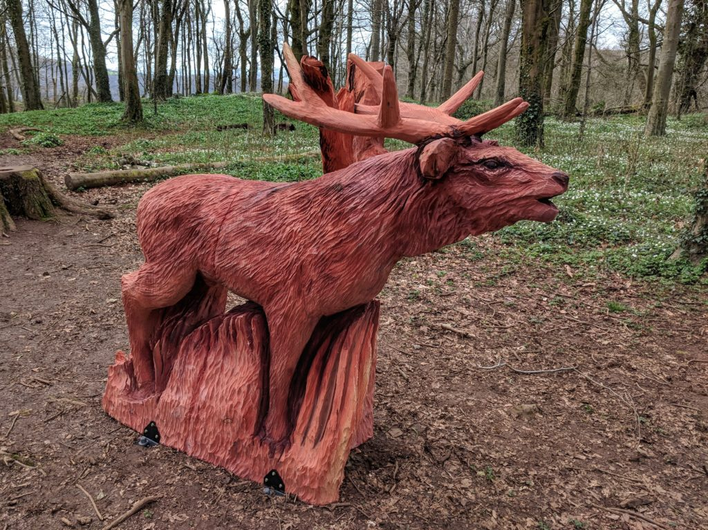 Red deer sculpture