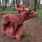 Red deer sculpture