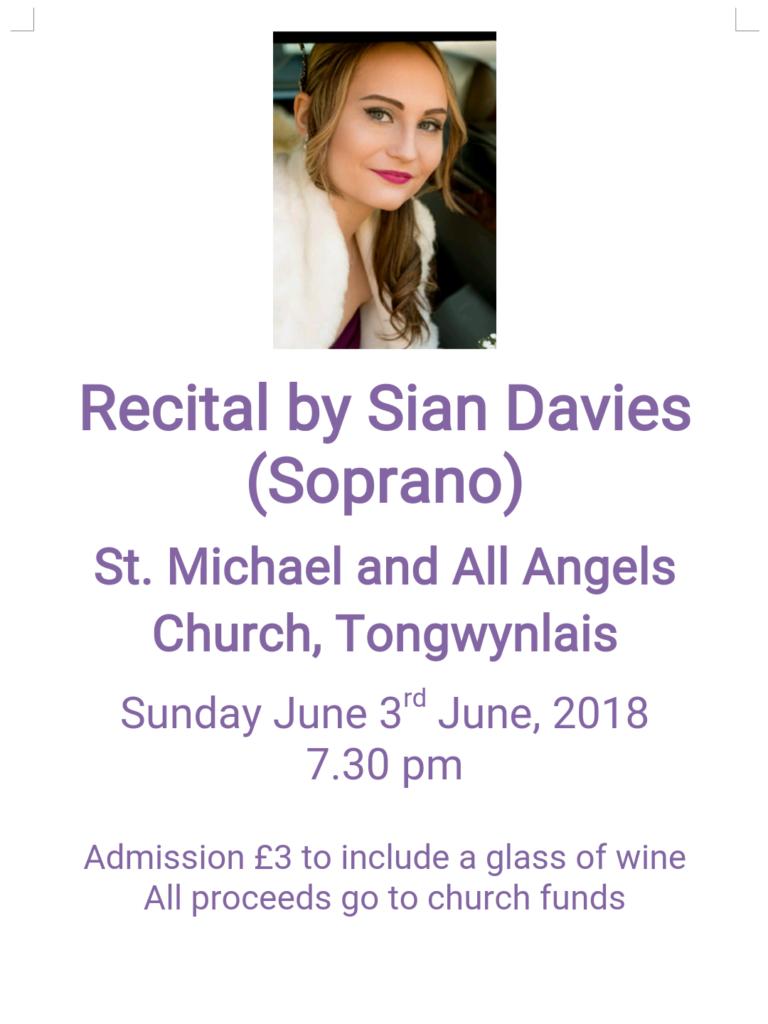 Recital - Siân Davies poster