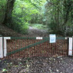 Closed path in Fforest Fawr