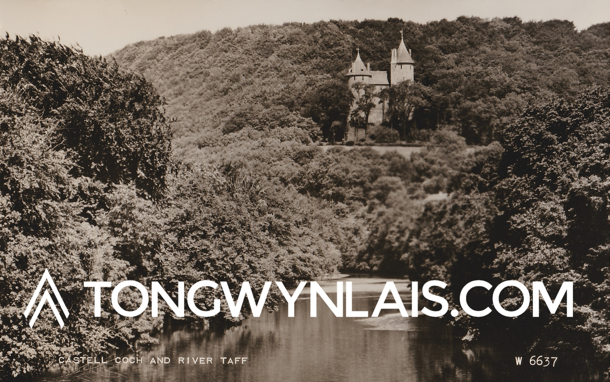 Postcard featuring Castell Coch