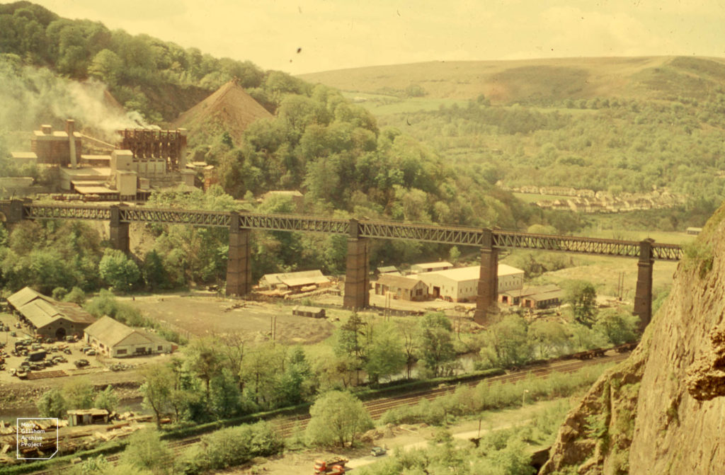 Photo of Taffs Well viaduct from the 1960s
