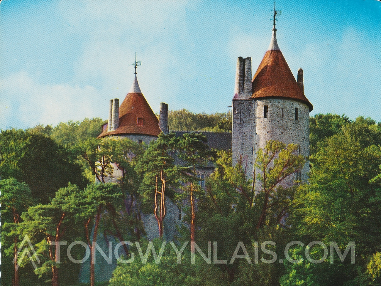 Old postcard of Castell Coch