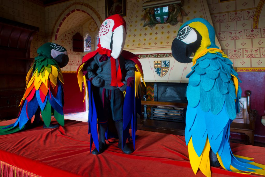 Art installation at Castell Coch