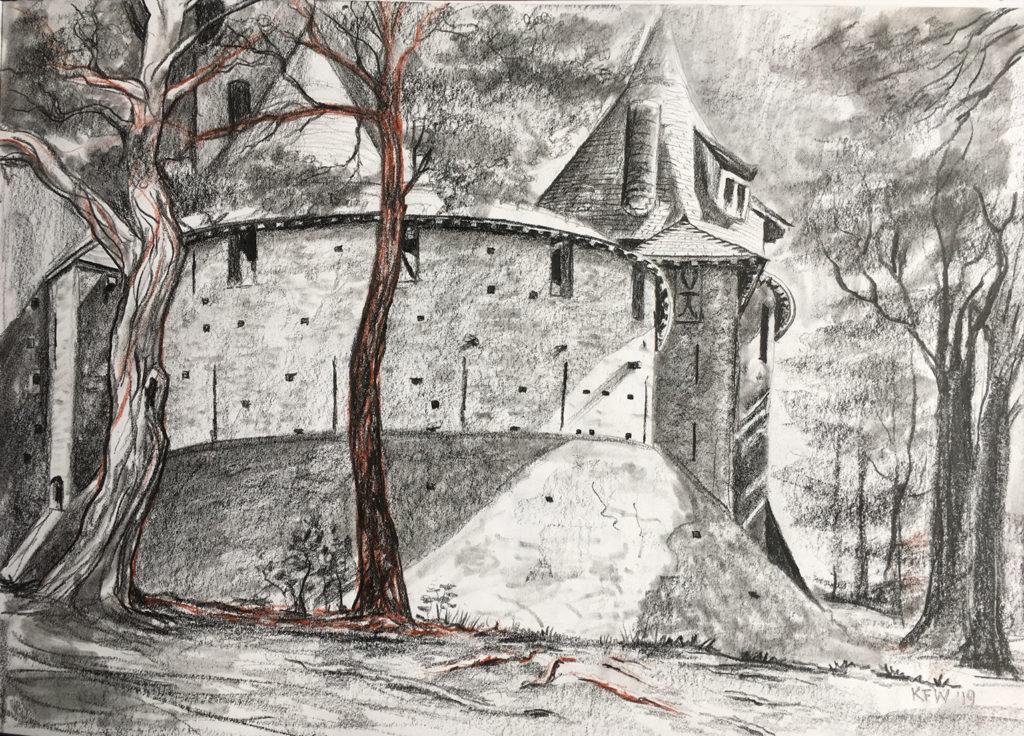 Sketch of Castell Coch