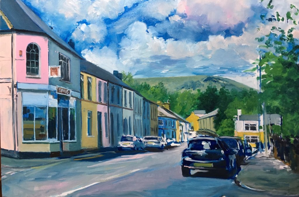 Painting of Merthyr Road in Tongwynlais