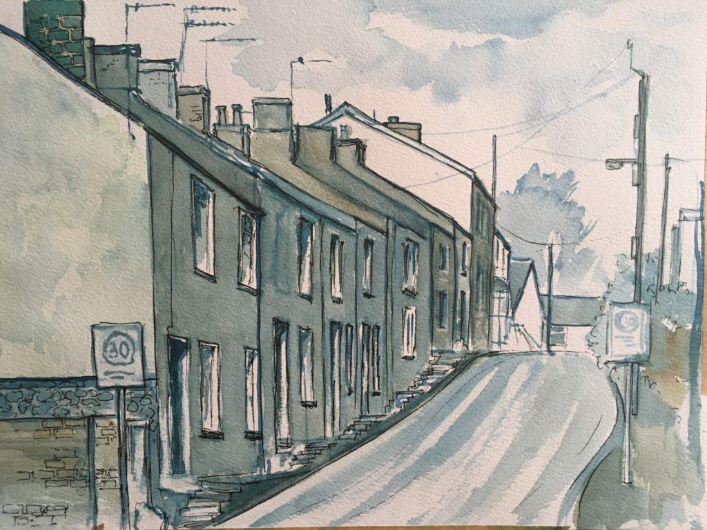 Painting of Wyndham Street, Tongwynlais