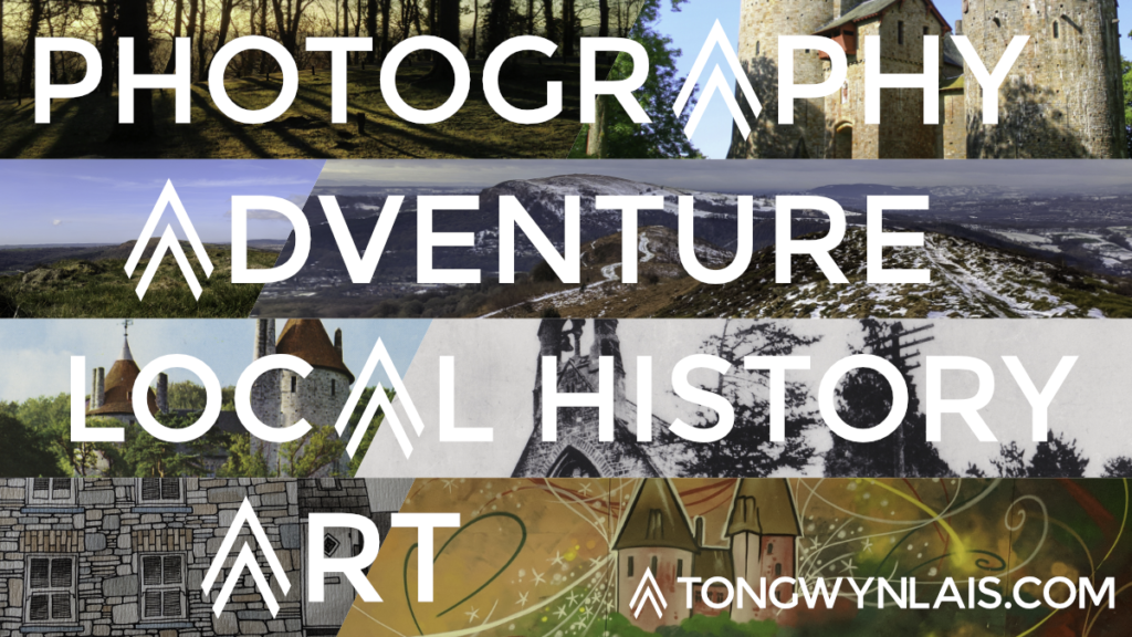 Poster with text: Photography, adventure, local history and art