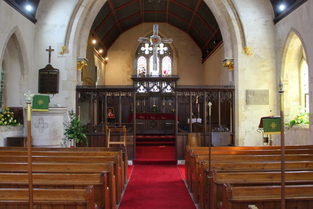Interior of St Michael's Church, Tongwynlais