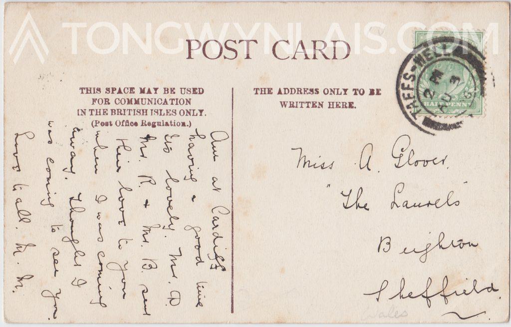Castell Coch postcard back