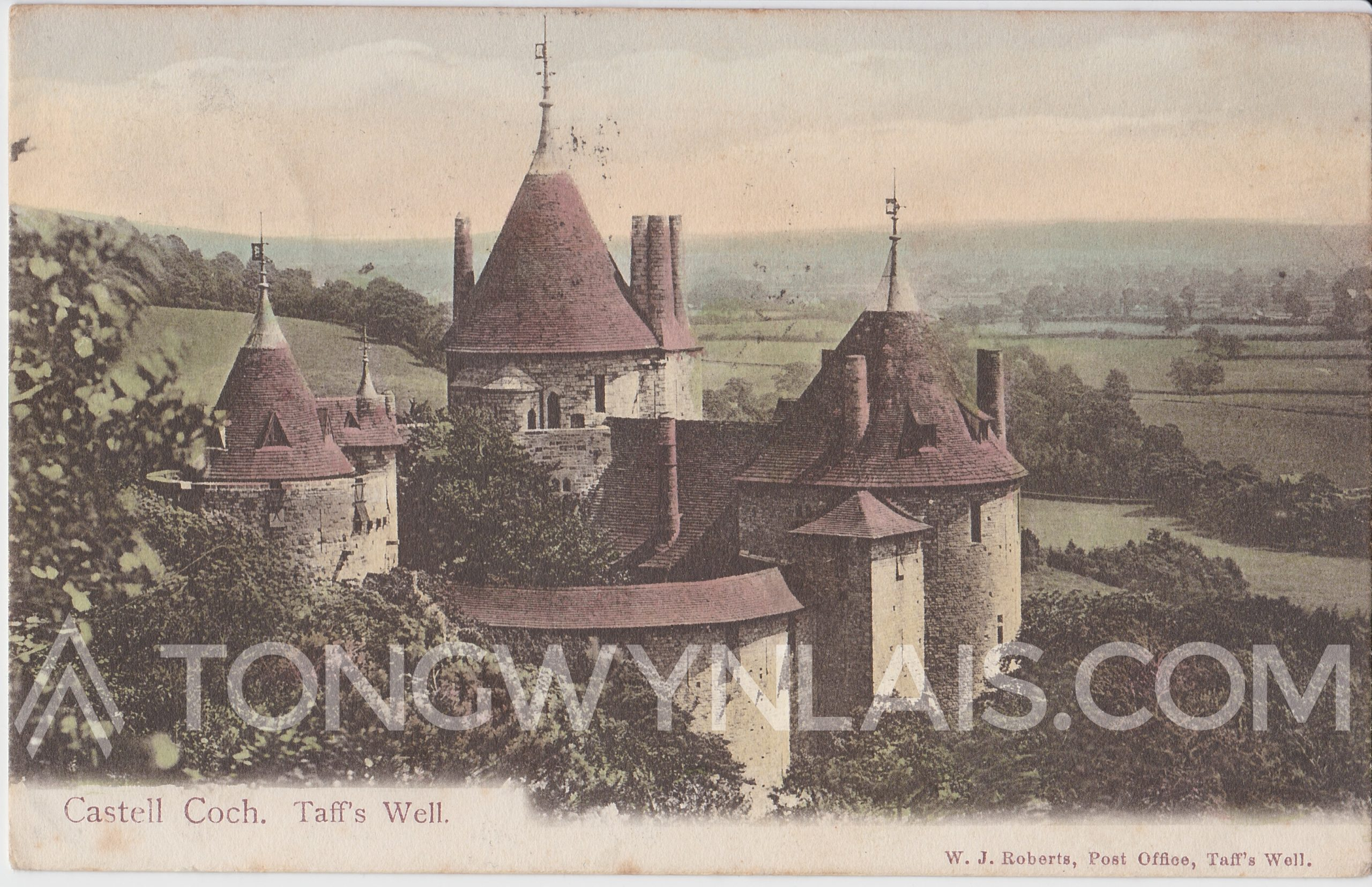 Castell Coch postcard front