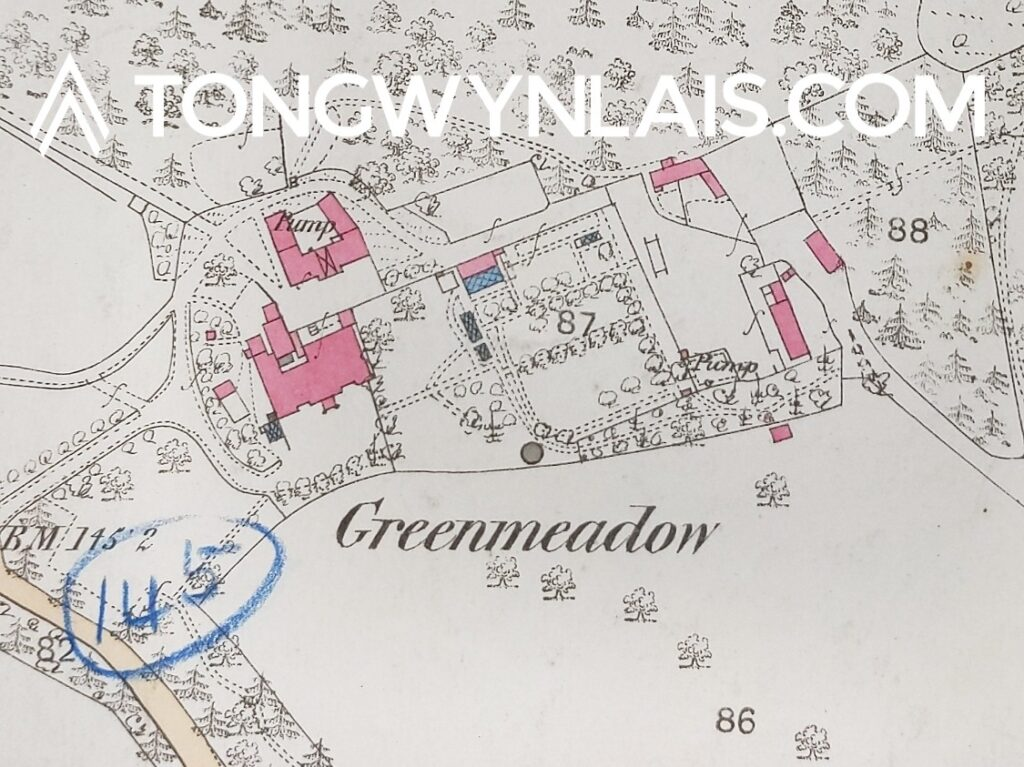Greenmeadow House Map 1837