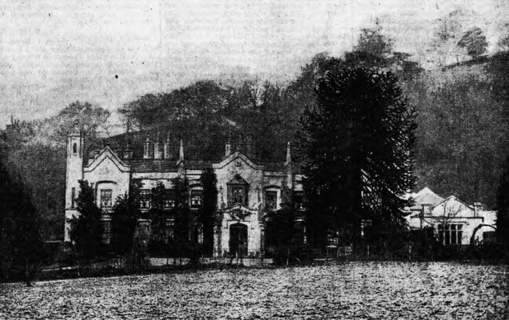 Greenmeadow House in Tongwynlais from 1910