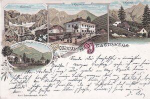 Late 19th century postcard of Jezersko