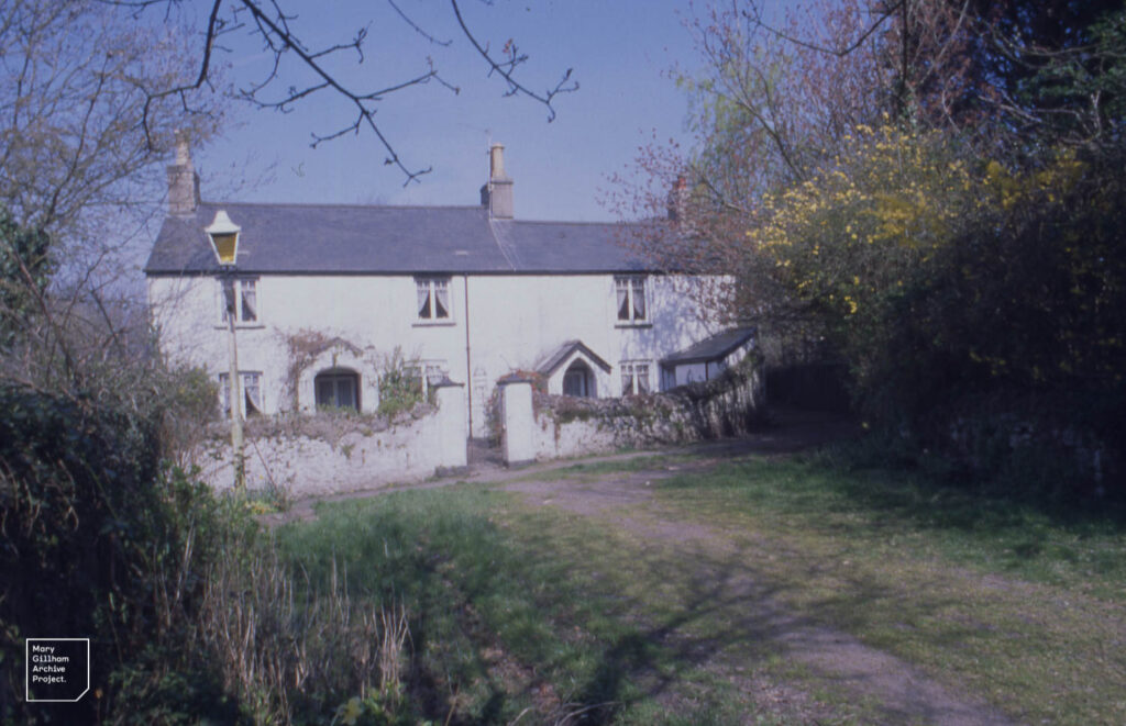 Ivy House farm, Tongwynlais, wide angle from yard, 7/4/2000